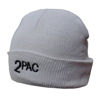Beanie 2pac Hip Hop White Ski Woolly Hat (..Limited edition..)