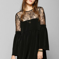 Oh My Love Lace-Top Bell-Sleeve Dress - Urban Outfitters