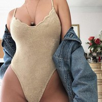 Fiona Scalloped Ribbed Bodysuit