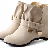 CooLcept  ankle half short boots  snow   warm boot footwear wedge shoes P15008 EUR size 34-39