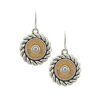 Antique Silver Tone Gold Winchester Earrings