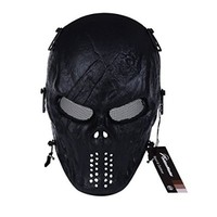 OutdoorMaster Airsoft Mask, Full Face with Metal Mesh Eye Protection (Highland)