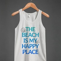 THE BEACH IS MY HAPPY PLACE TANK TOP ID7032215