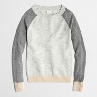 Factory waffle sweater in colorblock : crewnecks & boatnecks | J.Crew Factory