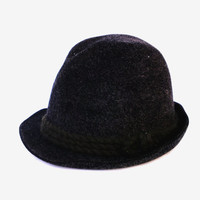 Vintage Canda men's Fedora hat Baarfilz authentic wool felt hat black wool felt hat fall hat country fedora hat gift for him men headwear