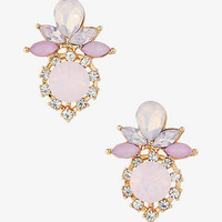 Mixed Blush Rhinestone Post Earrings from EXPRESS