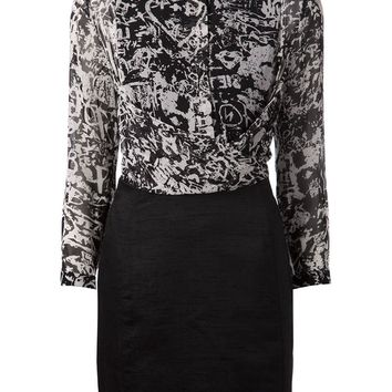 Carven printed shirt dress