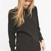 Urban Renewal Vintage Customised Overdyed Black Waffle Thermal Top - Urban Outfitters