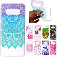 Phone case For Samsung galaxy Note 8 Cover Fruit pineapple butterfly Donuts Soft Silicone Cases cover