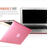 """For Apple Macbook Air 13 PC Material Hard Laptop Sleeve Case Cover,Hard Transparent Crystal Case Shell Bags For Air 13"""" 1PCS"""