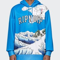 Ripndip RIPN The Great Wave New fashion letter wave print couple hooded long sleeve sweater