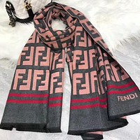 Fendi New fashion more letter print warm scarf women
