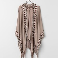 POL Embroidered Poncho