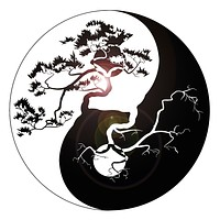 Vinyl Wall Decal Yin Yang Tree Zen Asian Style Stickers Mural Unique Gift (ig3676)