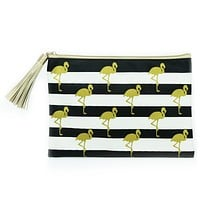 CHIC POUCH WITH TASSEL FLAMINGO