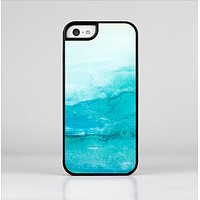 The Grungy Blue Watercolor Surface Skin-Sert for the Apple iPhone 5c Skin-Sert Case