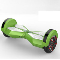 Green Smart Electric Unicycle Self Balance 2 Wheels Scooter with bluetooth speaker