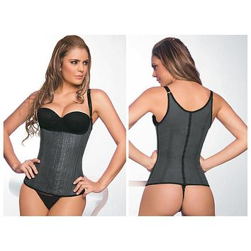 Ann Chery 2028 Latex Girdle Body Shaper Color Black