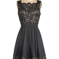ModCloth LBD Mid-length Sleeveless Fit & Flare Novel Release Party Dress