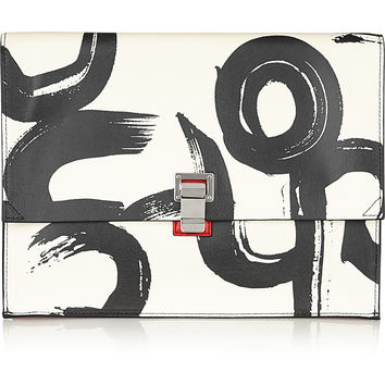 Proenza Schouler - The Lunch Bag large printed leather clutch