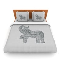 "Belinda Gillies ""Elephant"" King Fleece Duvet Cover - Outlet Item"