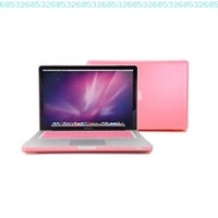 """GMYLE(R) 2 in 1 - Pink Frosted Matte Rubber Coated Rubberized See Thru Hard Snap On Case for Apple 13.3"""" inch Macbook Pro - With Silicone Pink Protective Keyboard Skin Cover (not fit for 13 Macbook Pro with Retina display):Amazon:Computers & Accessories"""