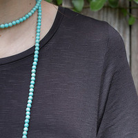 Double Wrap Necklace- Turquoise // Beaded Double Wrap Necklace // Magnesite Double Wrap Beaded Necklace