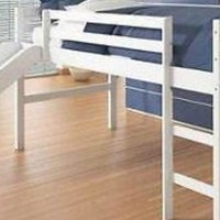 Bailey White Loft Bed with Slide