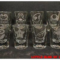 8pc Super Mario Power-Up Bar Shot Set