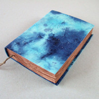 GALAXY, nebula - handmade journal, notebook, old pages, 224 pages