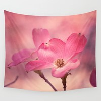 Colors of Spring: Pink Dogwood Wall Tapestry by Legends Of Darkness Photography