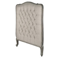Fontaine Tufted Upholstered Mangowood Headboard
