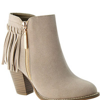 The Kenzie Fringe Bootie - Taupe