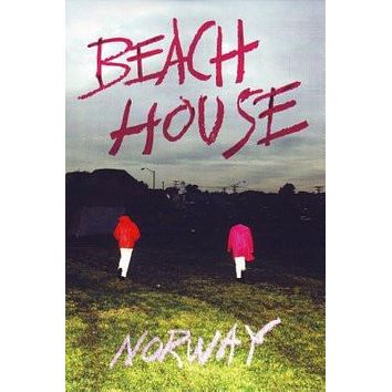 Beach House Norway poster Metal Sign Wall Art 8in x 12in