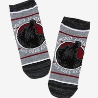Licensed cool Harry Potter Dementor No-Show Socks Dark Arts Defense Striped ONE Pair 9-11 NWT