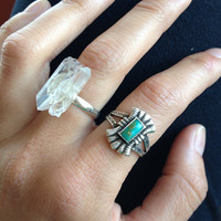 Raw Crystal Adjustable Ring