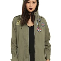 Olive Utility Patch Jacket