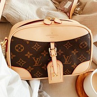 Hipgirls LV New Fashion Monogram Print Shoulder Bag Handbag Crossbody Bag