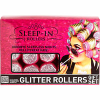 PINK GLITTER SLEEP-IN ROLLERS GIFT SET