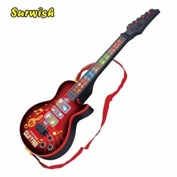 Hiqh Quality 4 Strings Music Electric Guitar Kids Musical Instruments Educational Toys For Children juguetes As New Year Gift