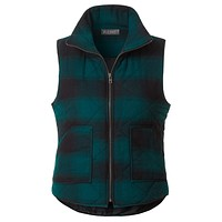Lightweight Plaid Quilted Padded Puffer Sleeveless Vest with Pockets (CLEARANCE)