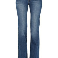 Kan Can Women's Mid Rise Boot Cut Jeans