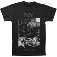 AC/DC Men's  Shook Me All Night Long T-shirt Black