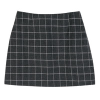 Brushed Pincheck Mini Skirt