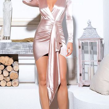 Brigid Satin Bodycon Dress