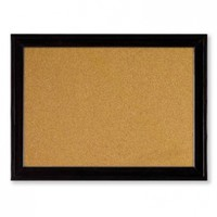 Quartet Cork Bulletin Board, 11 x 17 Inches, Home Décor Corkboard, Black Frame (79279)
