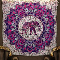 Free Shipping digital printing tapestr colorful Southeast Asian style elephant beach towel Fashion home wall decorative blanket