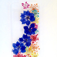 Handmade Real  Natural Pressed Flowers iphone 6 6 plus case iphone 4s 5 5s 5c case  Samsung case fashion cellphone colorful