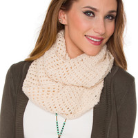 Sinclair Infinity Scarf - Ivory - One Size / Ivory