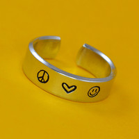 Peace, Love, & Happiness Ring